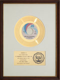 "Music Memorabilia:Awards, The Foundations ""Build Me Up Buttercup"" RIAA Gold Record Award(1968). ..."