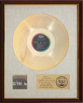 Music Memorabilia:Awards, The Beach Boys Today! RIAA Gold Record Award (1965). ...