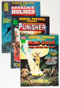 Magazines:Superhero, Marvel Preview Group (Marvel, 1975-78) Condition: Average VF....(Total: 49 Comic Books)