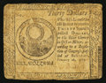 Colonial Notes:Continental Congress Issues, Continental Currency February 26, 1777 $30 Fine.. ...
