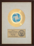 "Music Memorabilia:Awards, Rolling Stones ""(I Can't Get No) Satisfaction"" RIAA Gold RecordAward (1965). ..."