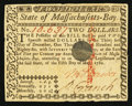 Colonial Notes:Massachusetts, Massachusetts May 5, 1780 $2 About New, POC.. ...