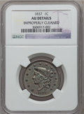 Large Cents, 1837 1C Head of 1838 -- Improperly Cleaned -- NGC Details. AU. NGCCensus: (11/511). PCGS Population (16/229). Mintage: 5,5...