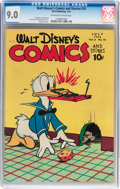 Golden Age (1938-1955):Cartoon Character, Walt Disney's Comics and Stories #70 (Dell, 1946) CGC VF/NM 9.0Off-white to white pages....