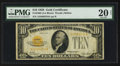 Small Size:Gold Certificates, Fr. 2400 $10 1928 Gold Certificate. PMG Very Fine 20 Net.. ...