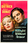 "Movie Posters:Drama, Knight without Armor (United Artists, 1937). One Sheet (27"" X41"").. ..."