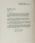 Autographs:Celebrities, William Joseph [Dard] Hunter, American Expert on Paper andPapermaking. Typed Letter Signed. Toning and creases. Very good....