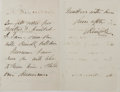Autographs:Authors, Charles Kingsley, British Priest and Writer. Autograph Letter Signed. Three pages on single-folded sheet. One-inch separatio...