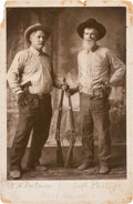 Photography:Cabinet Photos, [Texas Rangers]. W. H. Putnam and Captain Phillips Cabinet Card,circa 1890s....
