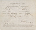 Autographs:Statesmen, [Texas Rangers]. Wilburn H. King Warrant of Authority for Jesse LeeHall Signed...