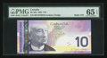 "Canadian Currency: , BC-68a $10 2005 with ""Radar"" Serial Number 0700070. ..."