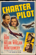 "Movie Posters:Adventure, Charter Pilot (20th Century Fox, 1940). One Sheet (27"" X 41"").Adventure.. ..."