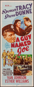 "Movie Posters:War, A Guy Named Joe (MGM, R-1955). Insert (14"" X 36""). War.. ..."