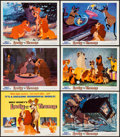 "Movie Posters:Animation, Lady and the Tramp (Buena Vista, R-1972). Lobby Card Set of 9 (11""X 14""). Animation.. ... (Total: 9 Items)"