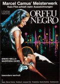 "Movie Posters:Drama, Black Orpheus (Look, R-1970s). German A1 (23.5"" X 33""). Drama.. ..."