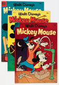 Golden Age (1938-1955):Cartoon Character, Mickey Mouse Group (Dell, 1954-57) Condition: Average VF....