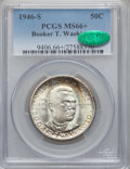 Commemorative Silver: , 1946-S 50C Booker T. Washington MS66+ PCGS. CAC. PCGS Population(444/80). NGC Census: (420/76). Mintage: 500,279. Numismed...