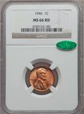 Lincoln Cents: , 1946 1C MS66 Red NGC. CAC. NGC Census: (685/34). PCGS Population(496/9). Mintage: 991,654,976. Numismedia Wsl. Price for p...