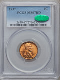Lincoln Cents, 1937 1C MS67 Red PCGS. CAC. PCGS Population (406/1). NGC Census:(1093/0). Mintage: 309,179,328. Numismedia Wsl. Price for ...