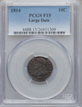 Bust Dimes: , 1814 10C Large Date Fine 15 PCGS. PCGS Population (3/138). NGCCensus: (2/150). Mintage: 421,500. Numismedia Wsl. Price for...