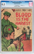 Golden Age (1938-1955):War, Blood Is the Harvest #nn (Catechetical Guild, 1950) CGC VG+ 4.5Off-white to white pages....