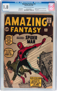 Amazing Fantasy #15 (Marvel, 1962) CGC GD- 1.8 Cream to off-white pages