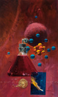 Pulp, Pulp-like, Digests, and Paperback Art, JOHN CONRAD BERKEY (American, 1932-2008). Please Explain,paperback cover, 1975. Casein and acrylic on board. 16 x 9.5i...