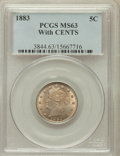 Liberty Nickels: , 1883 5C With Cents MS63 PCGS. PCGS Population (270/549). NGCCensus: (153/500). Mintage: 16,032,983. Numismedia Wsl. Price ...