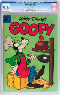 Four Color #747 Goofy - File Copy (Dell, 1956) CGC NM+ 9.6 Off-white to white pages