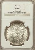 Morgan Dollars: , 1883 $1 MS64 NGC. NGC Census: (8977/4820). PCGS Population(8267/4800). Mintage: 12,291,039. Numismedia Wsl. Price for prob...