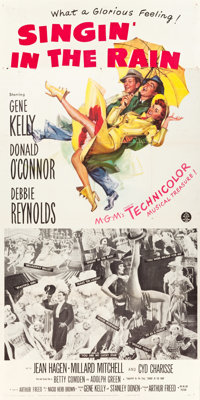 "Singin' in the Rain (MGM, 1952). Three Sheet (41"" X 81""). From the collection of GLG"