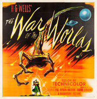 """The War of the Worlds (Paramount, 1953). Six Sheet (79"""" X 80.5""""). From the collection of Bruce Willis"""