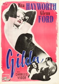 "Movie Posters:Film Noir, Gilda (Columbia, 1946). Swedish One Sheet (27.5"" X 39.5"") EricRohman Art.. ..."