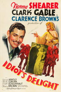 """Idiot's Delight (MGM, 1939). One Sheet (27"""" X 41"""") Style C"""