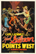 "Movie Posters:Western, Points West (Universal, 1929). One Sheet (27"" X 41"").. ..."