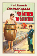 """Movie Posters:Comedy, No Father to Guide Him (Pathé, 1925). One Sheet (27"""" X 41"""").. ..."""