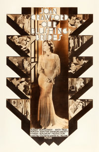 "Our Blushing Brides (MGM, 1930). Rotogravure One Sheet (27"" X 41"")"