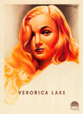 """Movie Posters:Film Noir, Veronica Lake Personality Poster (Paramount, 1944). French Affiche(23.5"""" X 32"""") Roger Soubie Art.. ..."""