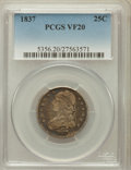 Bust Quarters: , 1837 25C VF20 PCGS. PCGS Population (5/244). NGC Census: (3/219). Mintage: 252,400. Numismedia Wsl. Price for problem free ...