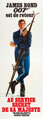 """On Her Majesty's Secret Service (United Artists, 1970). French Vertical Double Grande (47"""" X 126"""")"""