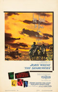 """Movie Posters:Western, The Searchers (Warner Brothers, 1956). Window Card (14"""" X 22"""").. ..."""