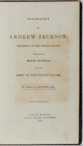 Books:Biography & Memoir, Philo A. Goodwin. Biography of Andrew Jackson. J. & H.Miller, 1858. First edition. Engraved portrait of Jackson...
