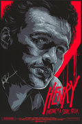"Movie Posters:Crime, Henry: Portrait of a Serial Killer (Mondo, R-2012). AutographedLimited Edition Screen Print Poster (24"" X 36"") Ken Taylor A..."
