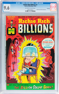 Richie Rich Billions #1 File Copy (Harvey, 1974) CGC NM+ 9.6 Off-white to white pages