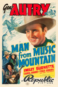 """Movie Posters:Western, Man from Music Mountain (Republic, 1938). One Sheet (27"""" X 41"""").. ..."""