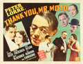 "Movie Posters:Mystery, Thank You, Mr. Moto (20th Century Fox, 1937). Half Sheet (22"" X28"") Style B.. ..."