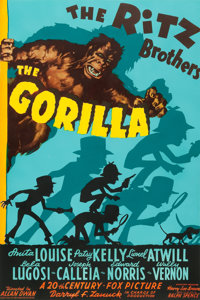 "The Gorilla (20th Century Fox, 1939). One Sheet (27"" X 41"")"