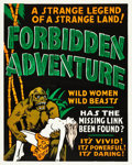 "Movie Posters:Bad Girl, Forbidden Adventure (Sonney Productions, 1937). Silk Screen OneSheet (28"" X 35.5). Alternate Titles: The Gorilla Woman ..."