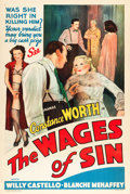 "Movie Posters:Exploitation, The Wages of Sin (Real Life Dramas, 1938). One Sheet (27"" X 41"")....."