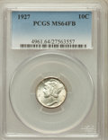 Mercury Dimes: , 1927 10C MS64 Full Bands PCGS. PCGS Population (228/336). NGCCensus: (117/120). Mintage: 28,080,000. Numismedia Wsl. Price...